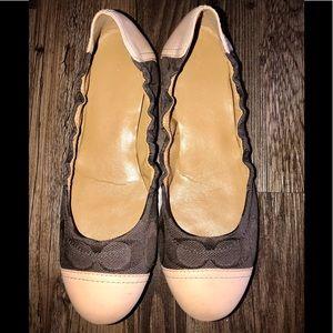Coach Ballet Slippers! Callie Brown & Tan Size 6.5